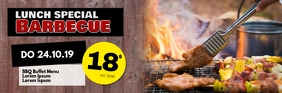 Barbecue BBQ Lunch Restaurant menu header ad template