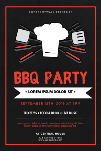 Barbecue BBQ Party Flyer Design
