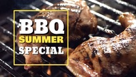 Barbecue BBQ Special Food Header Banner Ad Видеообложка профиля Facebook (16:9) template