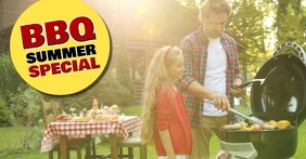 Barbecue BBQ Summer Special Banner Header Ad