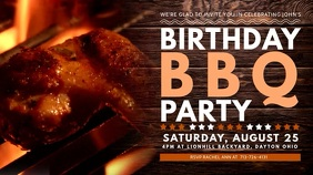Barbecue Birthday Party Digital Display Video Template