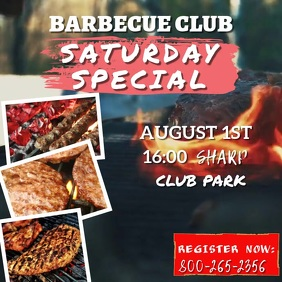 Barbecue Club Event Video Template
