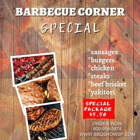 Barbecue Corner Instagram Template