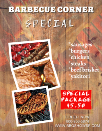 Barbecue Corner Poster Template Flyer (US Letter)