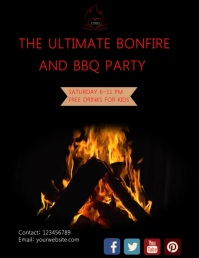 Barbecue Flyer (US-Letter) template