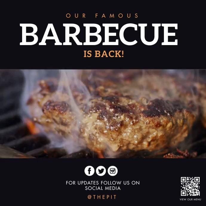 Barbecue Сообщение Instagram template