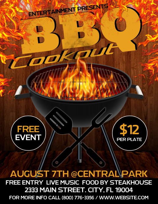 BARBECUE Pamflet (Letter AS) template