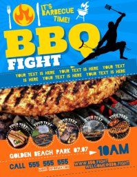 BARBECUE FIGHT FLYER