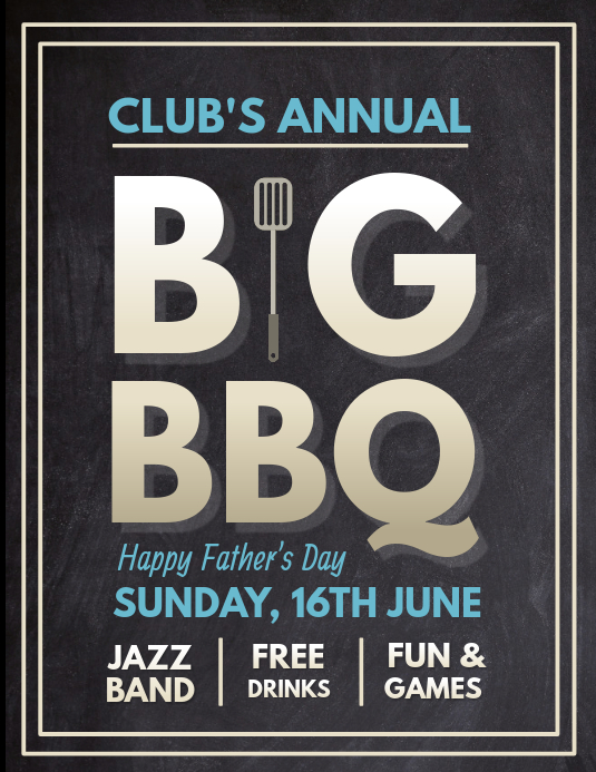 Barbecue Flyer, Father's Day BBQ