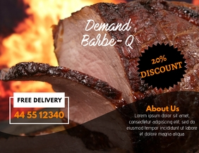 Barbecue Flyer Ad Template Løbeseddel (US Letter)