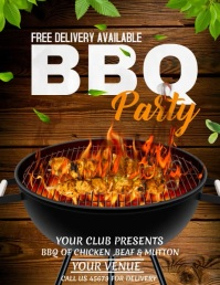 Barbecue flyers,Menu flyers Løbeseddel (US Letter) template