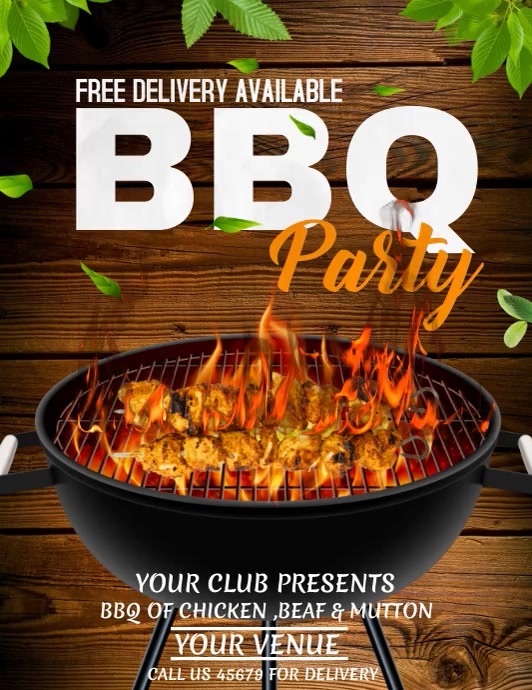 Barbecue flyers,Menu flyers template