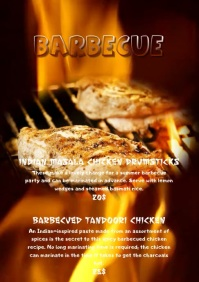 barbecue food flyer