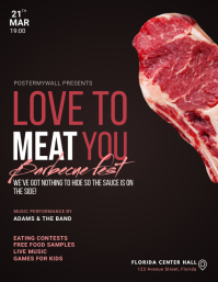 Barbecue Meat Event Festival Flyer Template