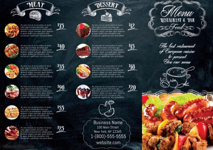 barbecue menu template postermywall