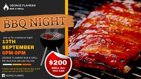 Barbecue Night event Digital Display Video Template
