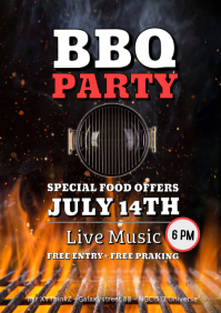 Barbecue Party BBQ Event Invitation Advert