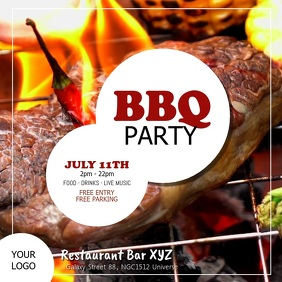 Barbecue Party BBQ Event Invitation Bar Ad