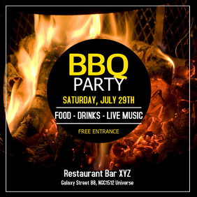 Barbecue Party BBQ Event Invitation Offer Ad Instagram Post template