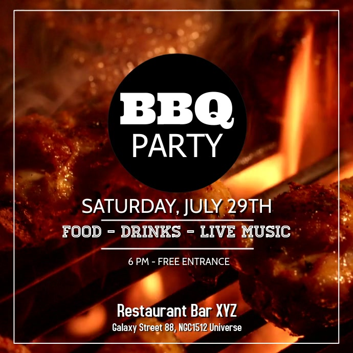 Barbecue Party BBQ Event Invitation Offer Ad