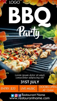 Barbecue Party Digitalanzeige (9:16) template