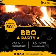 Barbecue Party Publicación de Instagram template