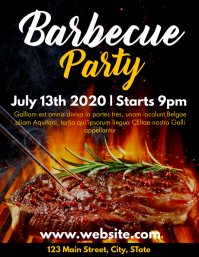 barbecue party flyer advertisement template