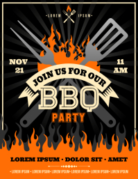BARBECUE PARTY FLYER ใบปลิว (US Letter) template