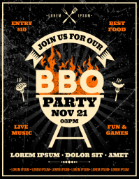 BARBECUE PARTY FLYER template