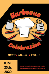Barbecue Party Poster Design template