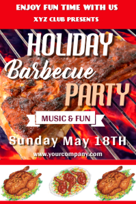Barbecue Party Template Design