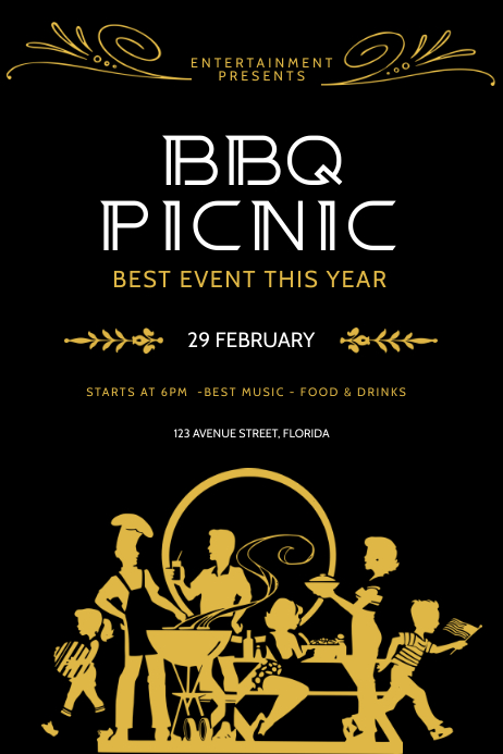 Barbecue picnic Flyer Template