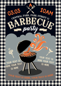 BARBECUE POSTER BW A4 template