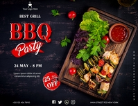 Barbecue Poster Pamflet (Letter AS) template