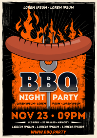 BARBECUE POSTER A4 template