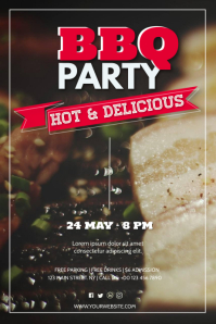 Barbecue Poster 海报 template