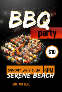 Barbecue poster tempelate Cartaz template