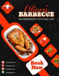 Barbecue Program Restaurant Menu Flyer Ad Tem ใบปลิว (US Letter) template