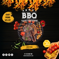 barbecue promo instagram post template