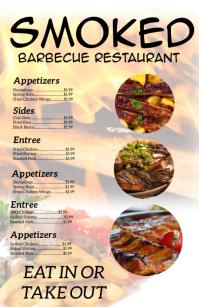 Barbecue Restaurant Menu Tabloid template