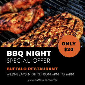 Barbecue Special Offer Sale Instagram Ad Template