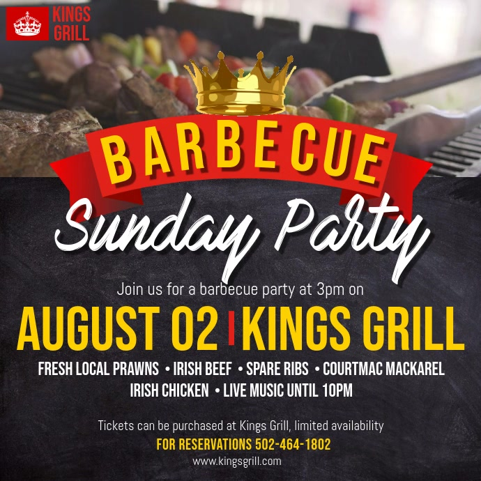 Barbecue Special Offer Sale Video Ad Template