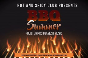 Barbecue Template Poster