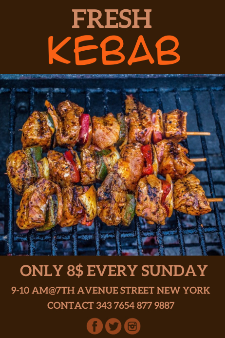 barbecue templates Poster