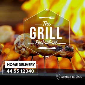 Barbecue Video Template Ad for Instagram
