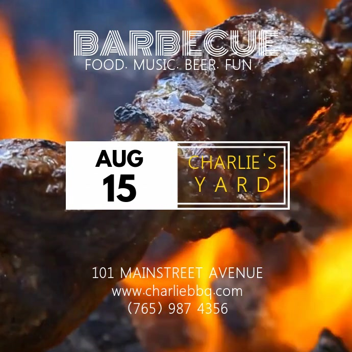 BARBECUE VIDEO TEMPLATE
