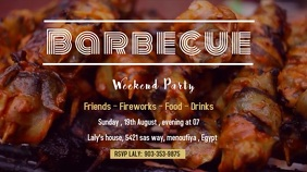 Barbecue WEEKEND PARTY 数字显示屏 (16:9) template