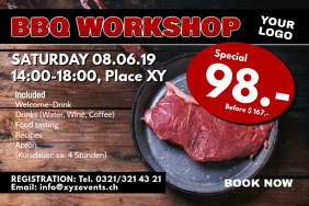 Barbecue Workshop Cooking Class BBQ Banner Ad