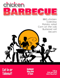 Barbecue BBQ Fundraiser or Company Picnic Flyer Template