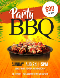 Barbeque BBQ Party Flyer Template